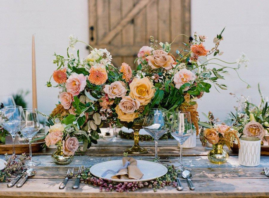 NOSTÁLGICA DECORACIÓN DE MESA decoracion-boda-rosas