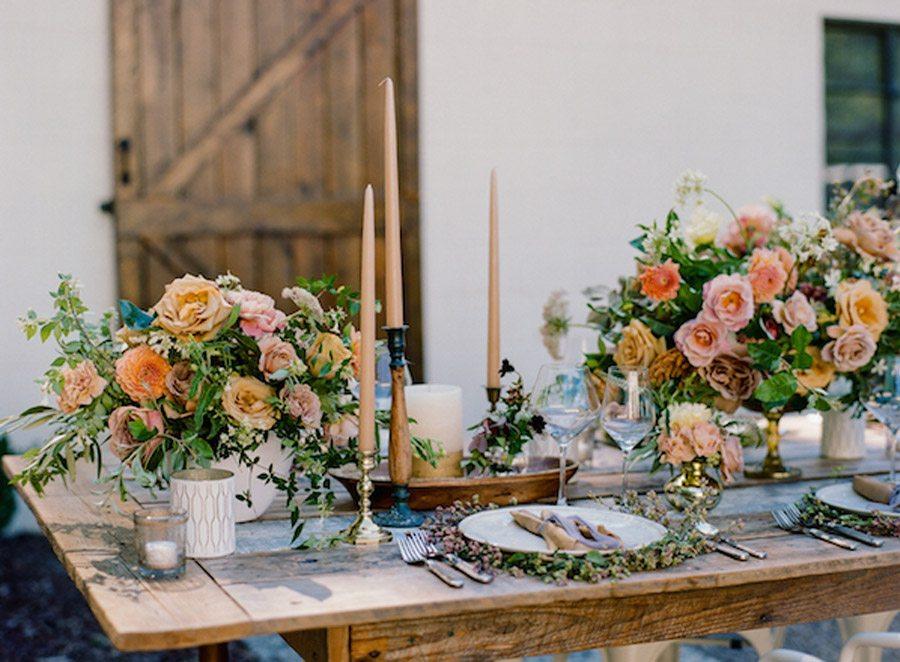 NOSTÁLGICA DECORACIÓN DE MESA decoracion-mesa-rosas