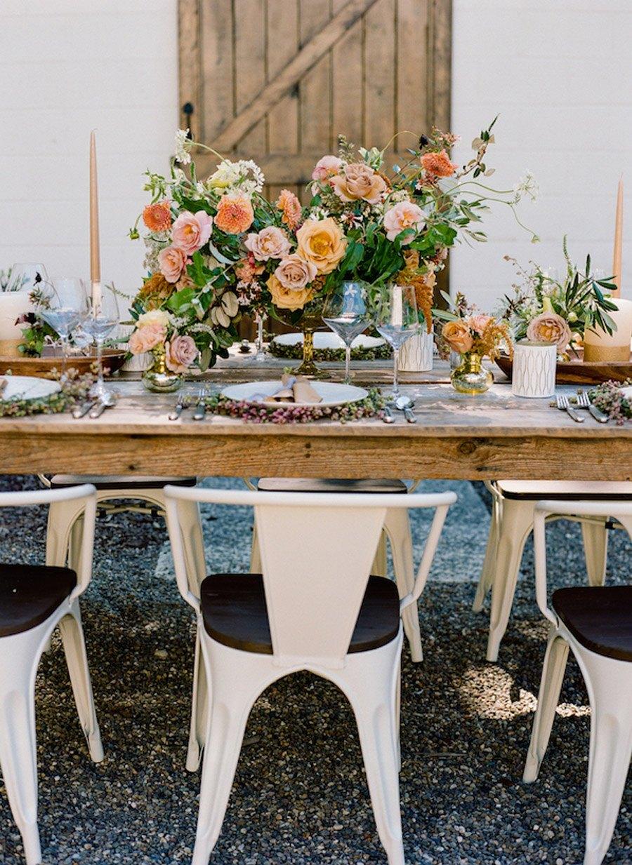 NOSTÁLGICA DECORACIÓN DE MESA mesa-boda