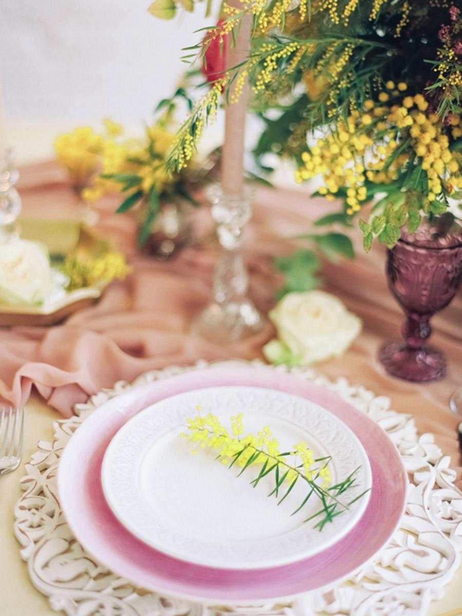 INSPIRACIÓN: MIMOSAS mimosas-deco-mesa
