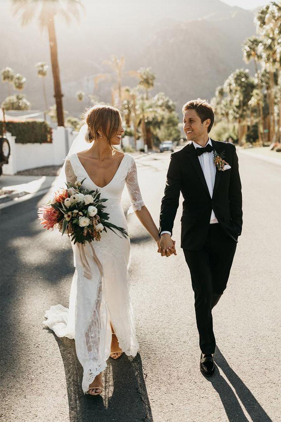JASON & DANIELLE: EL AMOR ESTÁ EN EL AIRE novios-boda-verano