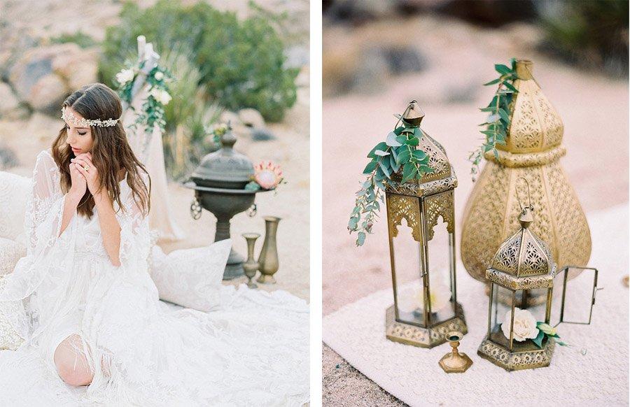 INSPIRACIÓN BOHEMIA EN EL DESIERTO deco-boda-boho