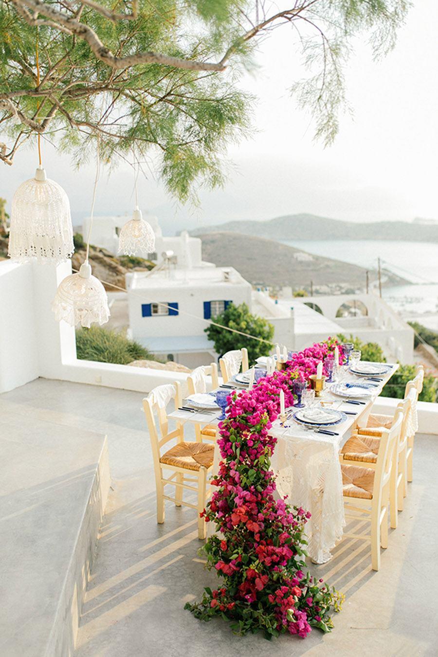 UNA BODA GRIEGA JUNTO AL MAR mesa-boda-griega