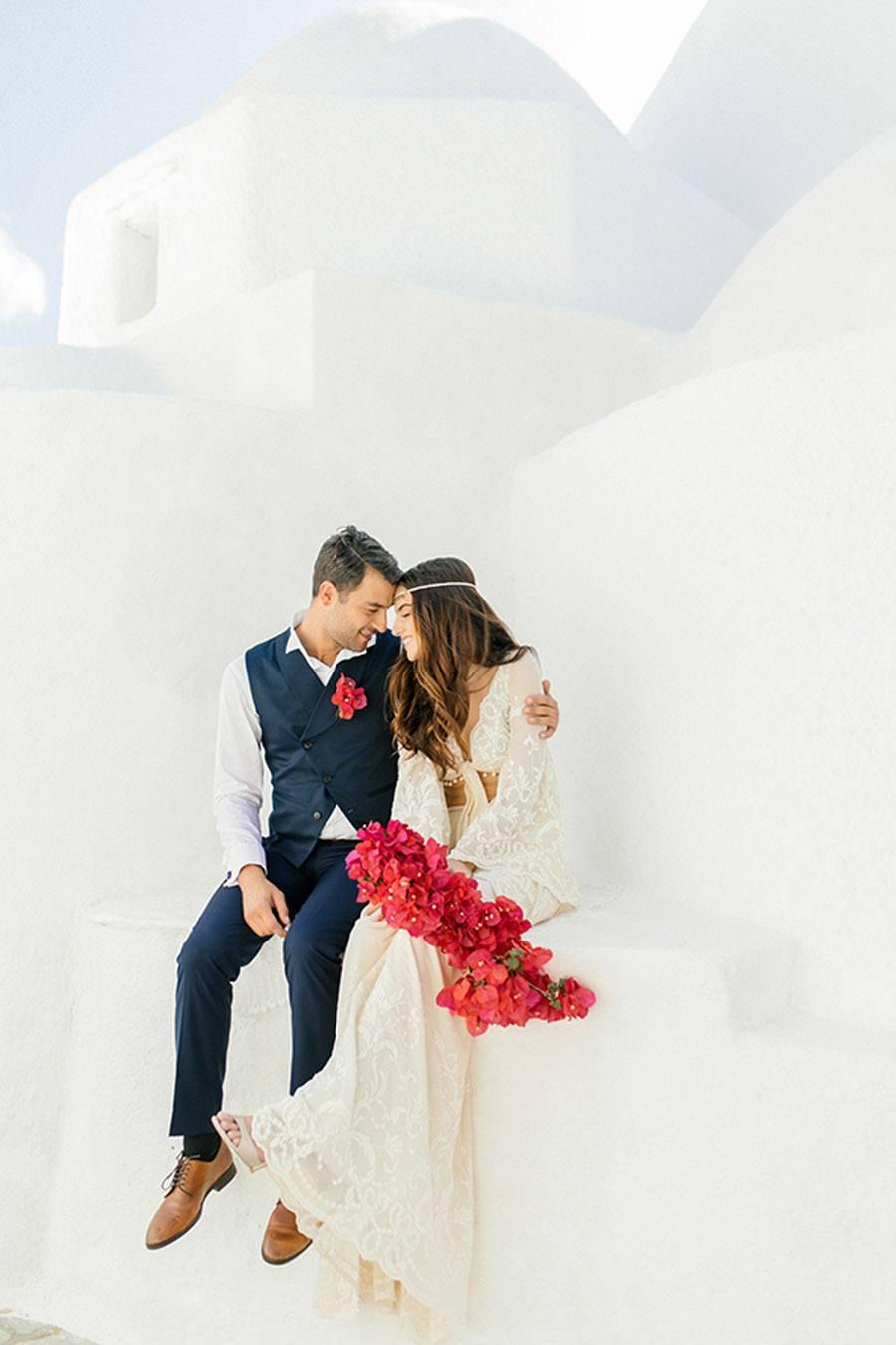 UNA BODA GRIEGA JUNTO AL MAR novios-boda-grecia