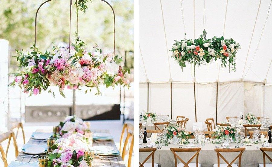 INSPIRACIÓN: CANDELABROS DE FLORES SUSPENDIDOS bodas-candelabro-flores