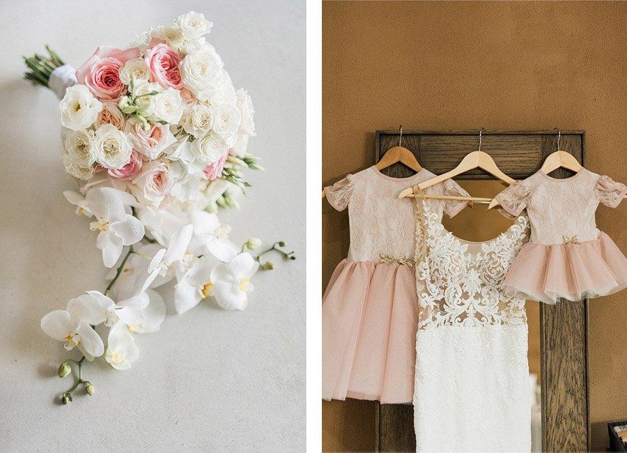 Decoración de boda rosa y dorado - Boda rústica 4