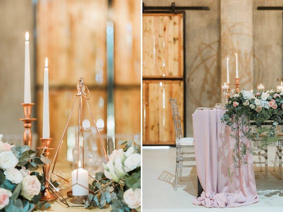 DECORACIÓN DE BODA EN ROSA Y ORO decoracion-boda-rosa-y-oro