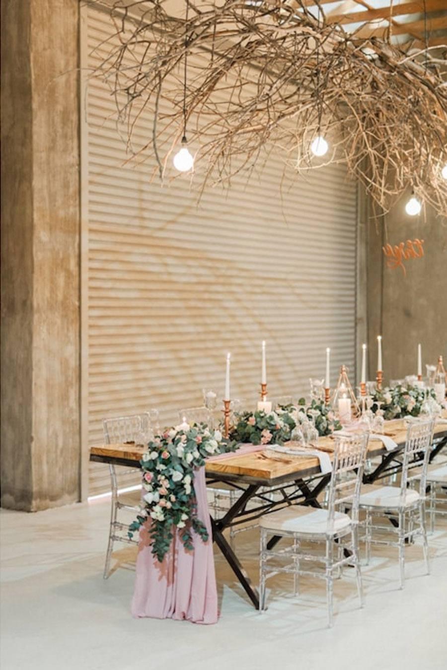 DECORACIÓN DE BODA EN ROSA Y ORO mesas-boda-rosa-y-oro