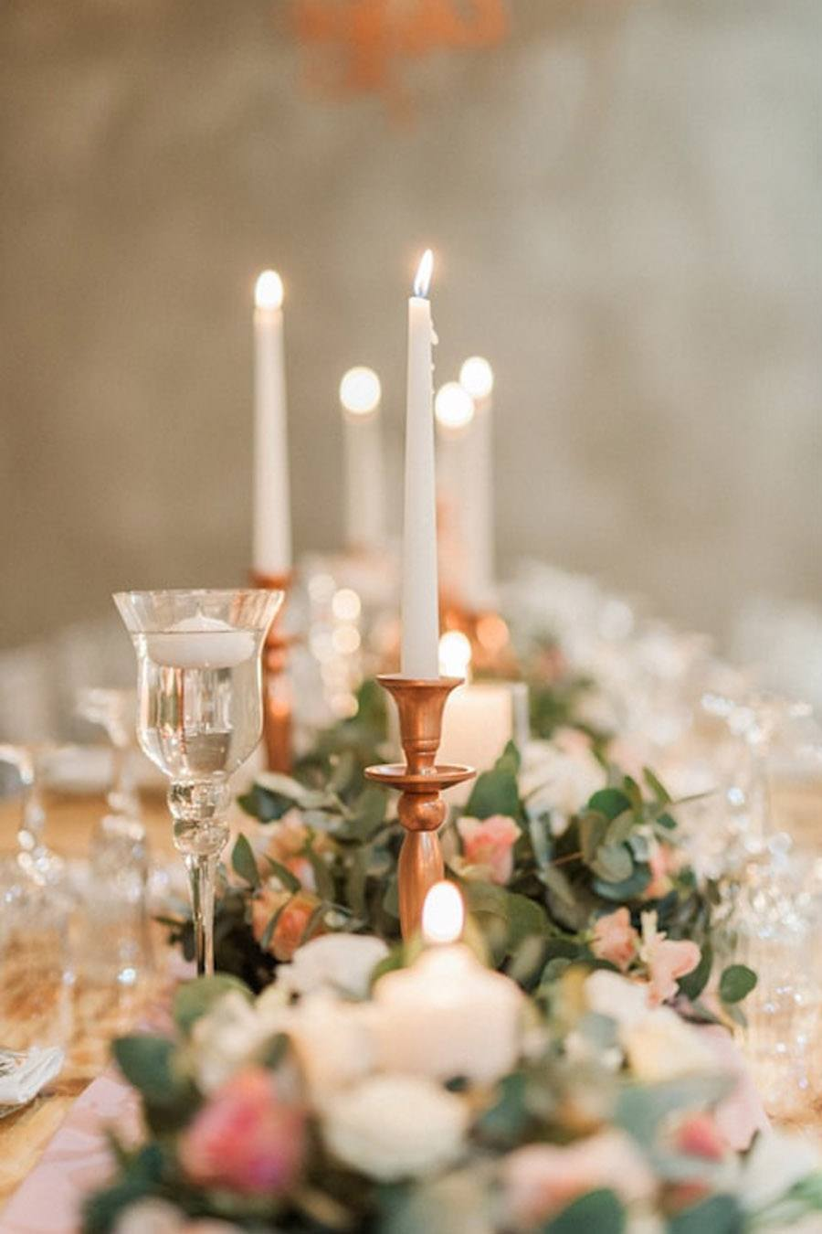 DECORACIÓN DE BODA EN ROSA Y ORO rosa-oro-boda