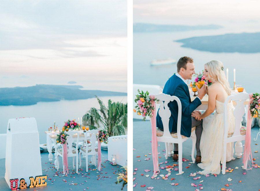 BODA ÍNTIMA EN SANTORINI santorini-decoracion-boda