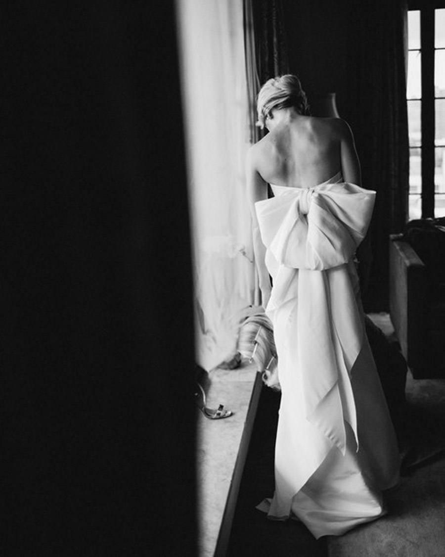 HAYLEY & CHRIS: ROMÁNTICA BODA EN NUEVA YORK novia-vestido-lazo