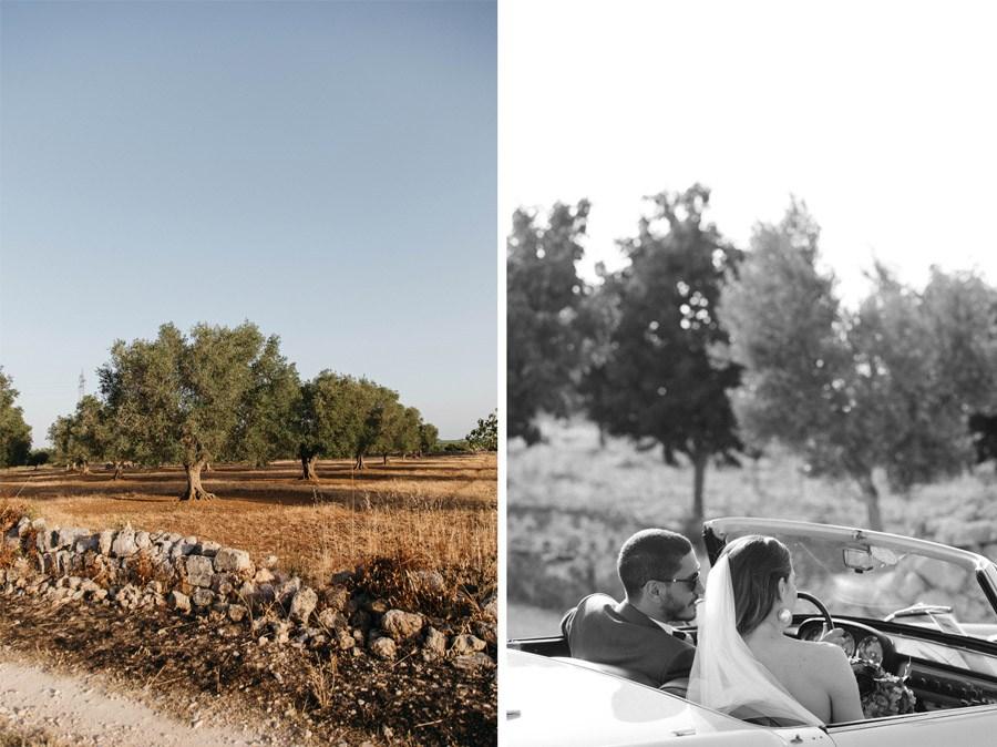 DAN & EMMA: BODA AL SUR DE ITALIA coche-novios-boda