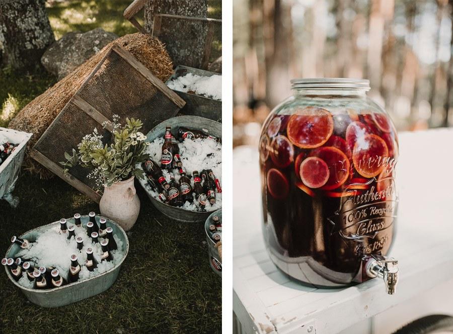 NATALIA & DAVID: UNA SENCILLA BODA DE CAMPO bebidas-boda