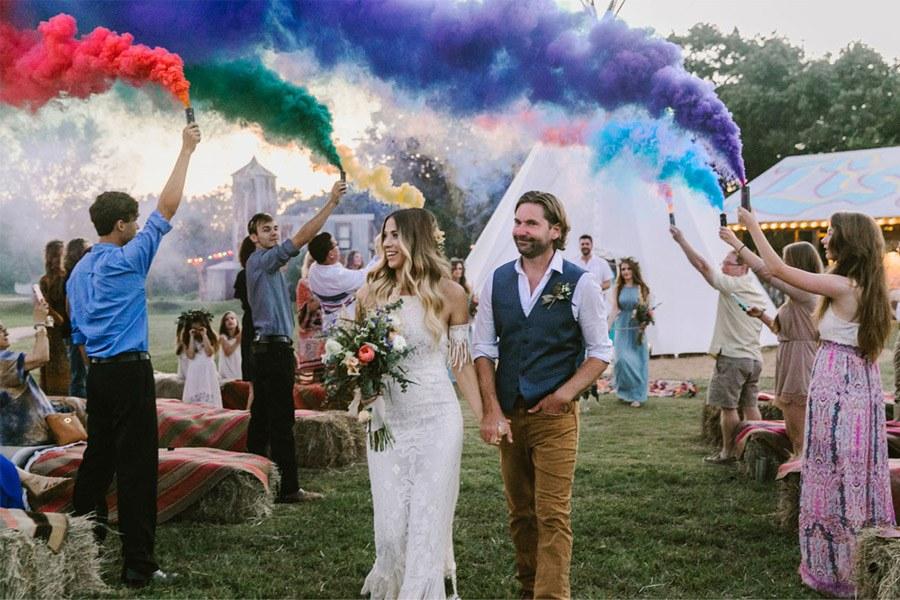 HUMO DE COLORES bodas-humo-colores