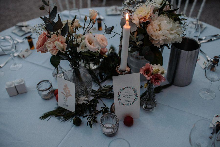 MARINA & PIERRE: INCREÍBLE FIN DE SEMANA DE BODA (II) centro-mesa-boda