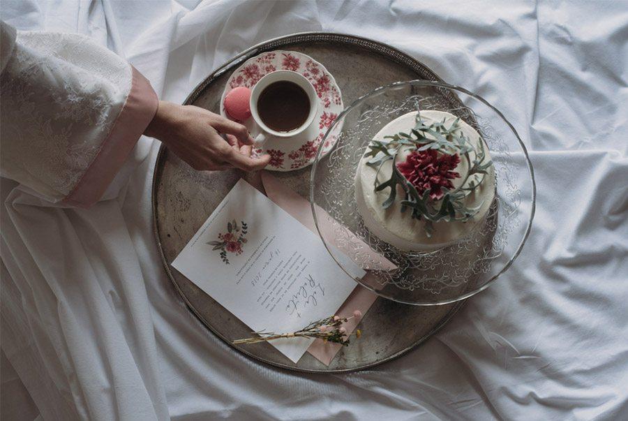 THE BLOOMING BRIDE desayuno-novia