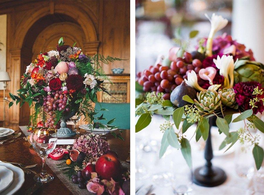 DECORACIÓN DE BODA CON UVAS decoracion-de-boda-uvas