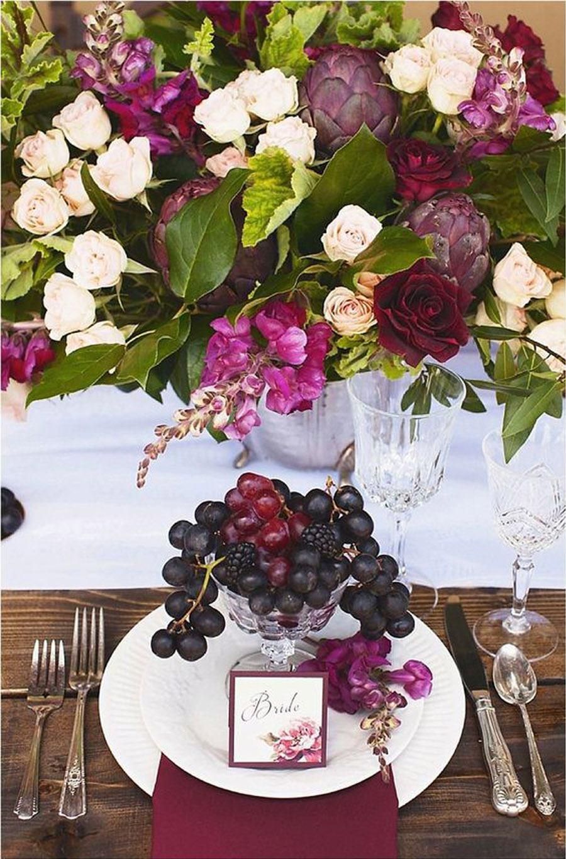 DECORACIÓN DE BODA CON UVAS decoracion-mesa-uvas
