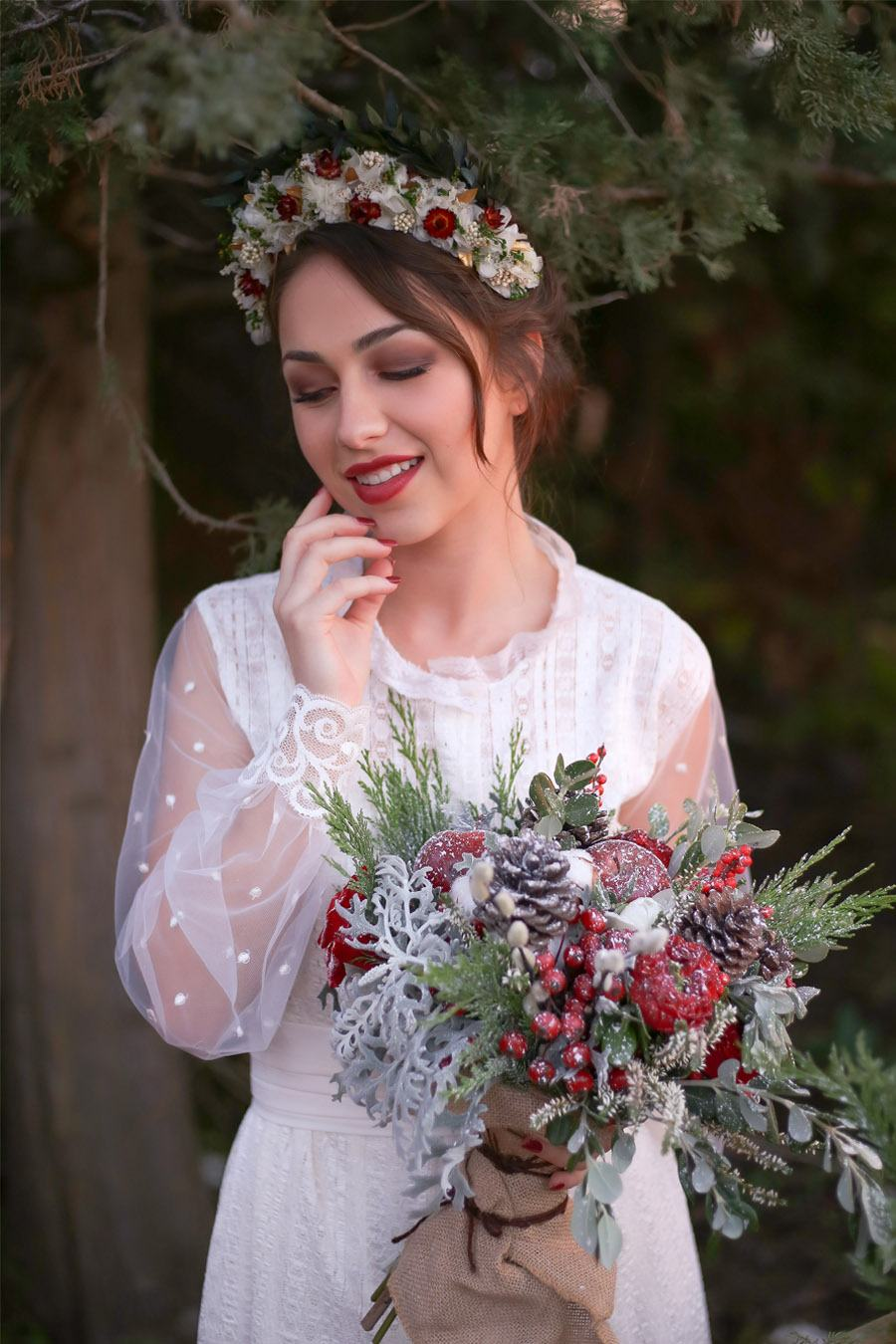 WEDDING CHRISTMAS novia-boda-invierno