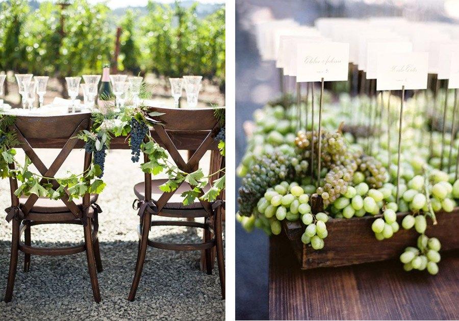 DECORACIÓN DE BODA CON UVAS uvas-decoracion-boda