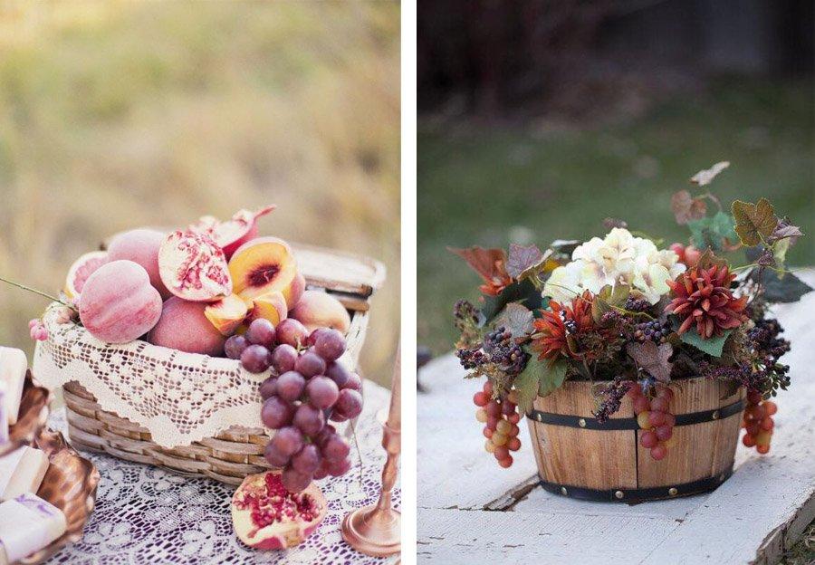 DECORACIÓN DE BODA CON UVAS uvas-decoracion-de-bodas
