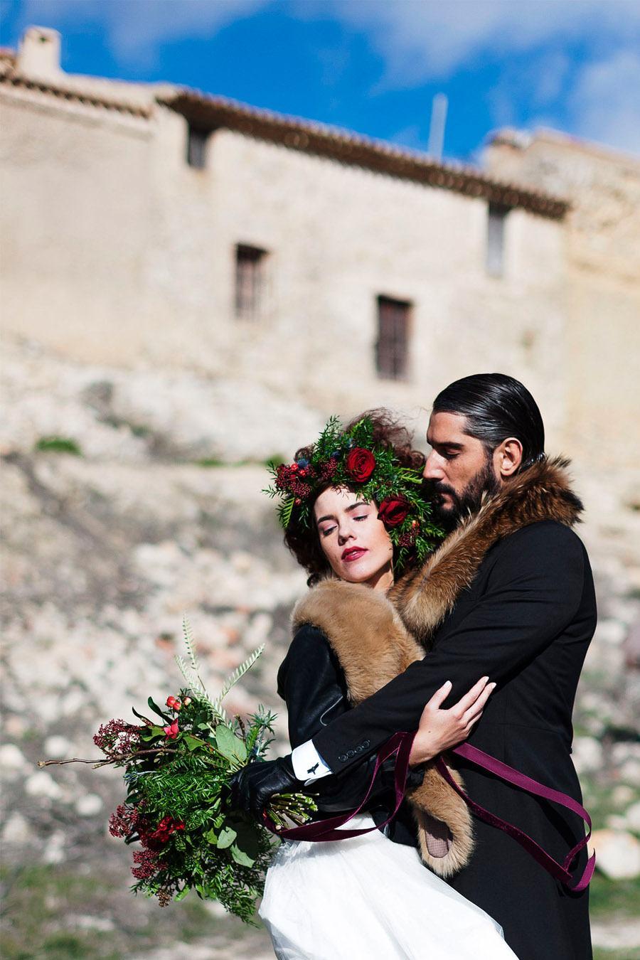 AMOR EN CAMPOS DE CASTILLA boda-invierno-novios