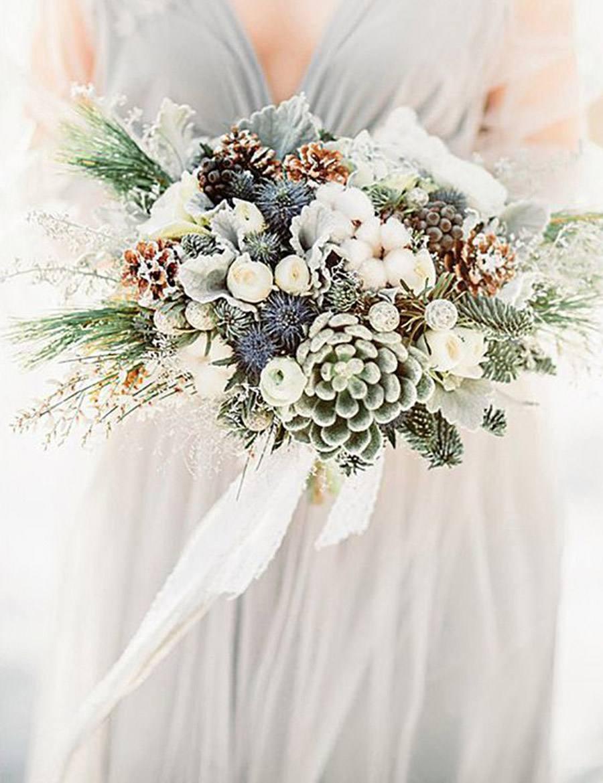 RAMOS DE NOVIA CON PIÑAS bouquets-novia-piñas