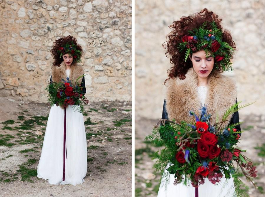 AMOR EN CAMPOS DE CASTILLA novia-boda-invierno