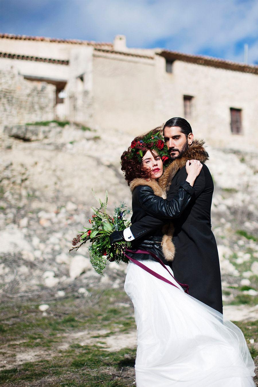 AMOR EN CAMPOS DE CASTILLA novios-boda-invierno