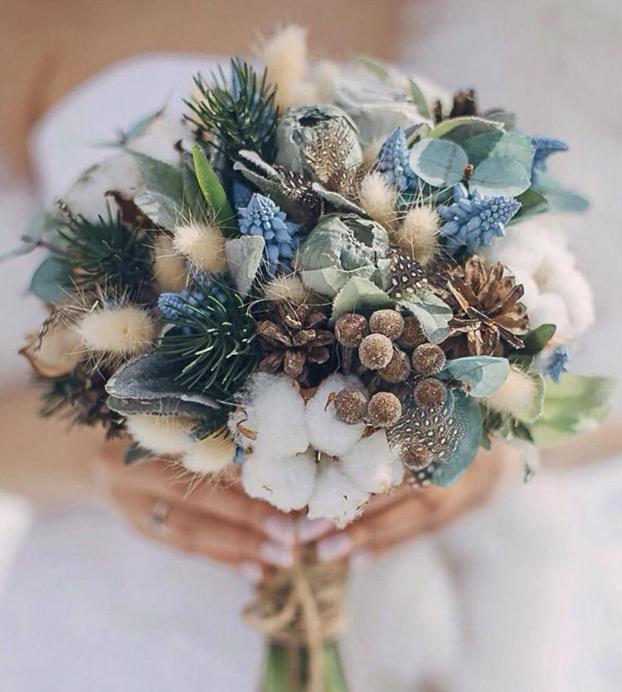 RAMOS DE NOVIA CON PIÑAS piñas-bouquet