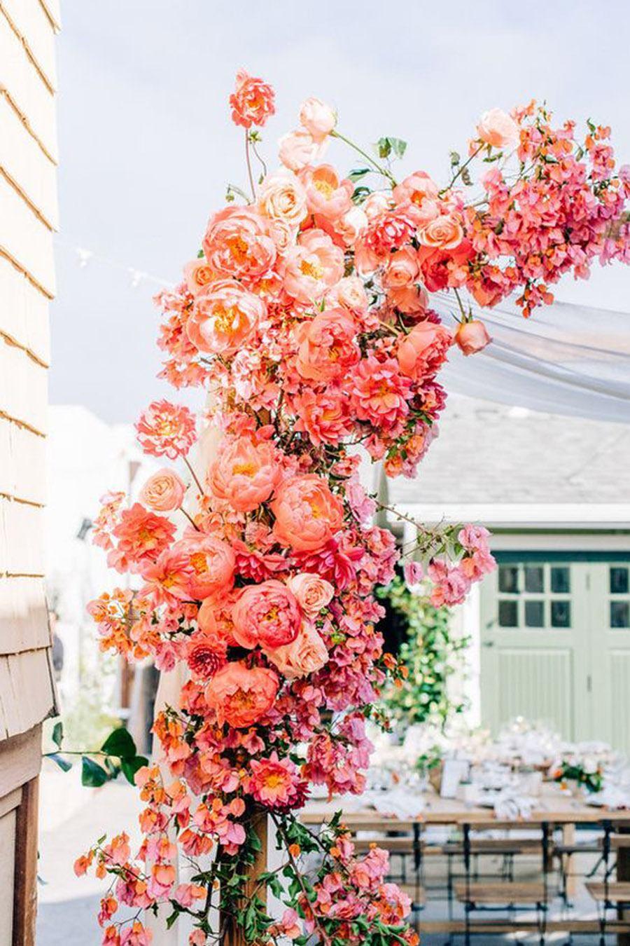 LIVING CORAL PARA LAS BODAS DE 2019 decoracion-boda-living-coral