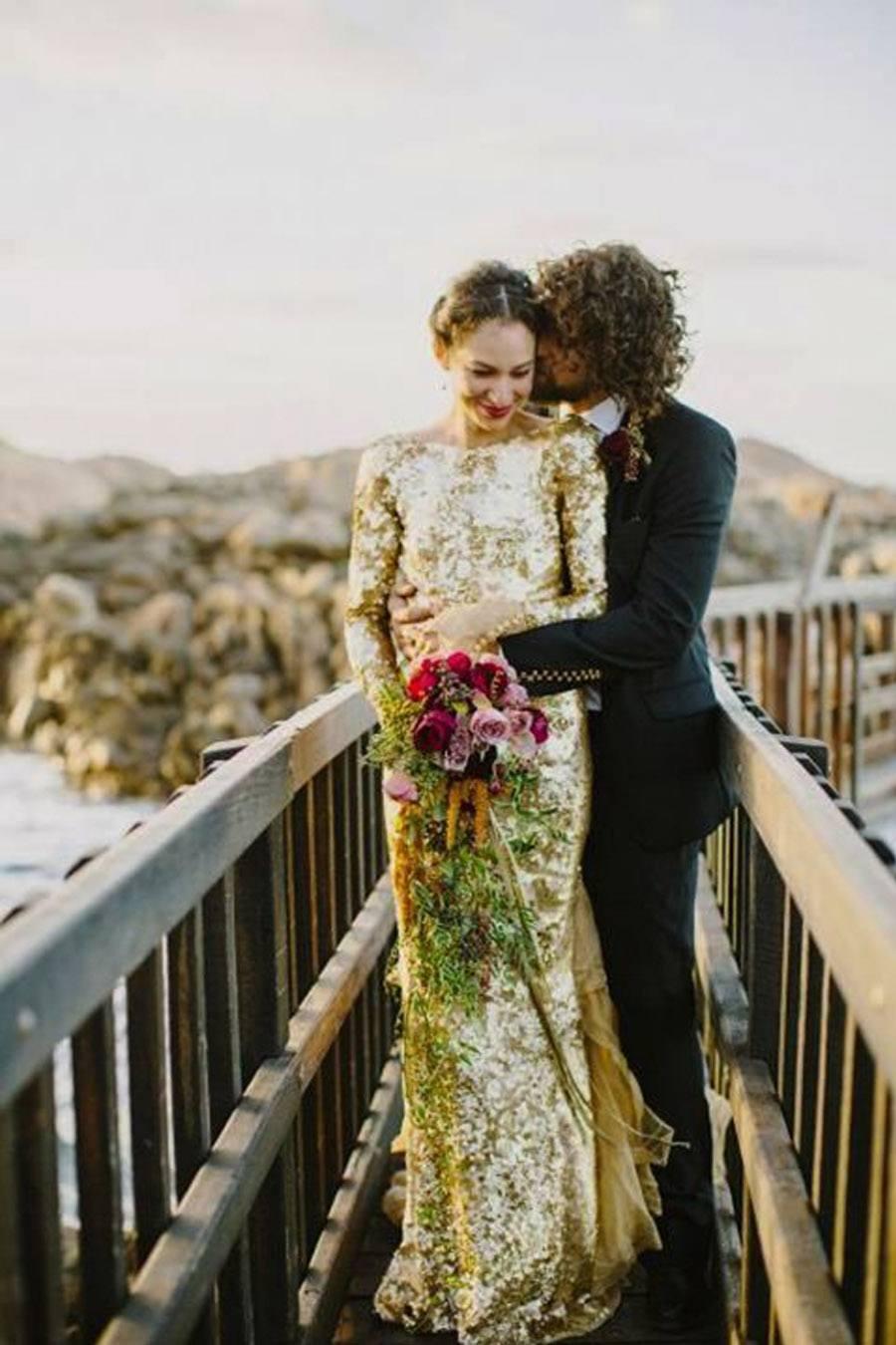 VESTIDOS DE NOVIA DORADOS vestido-novia-oro