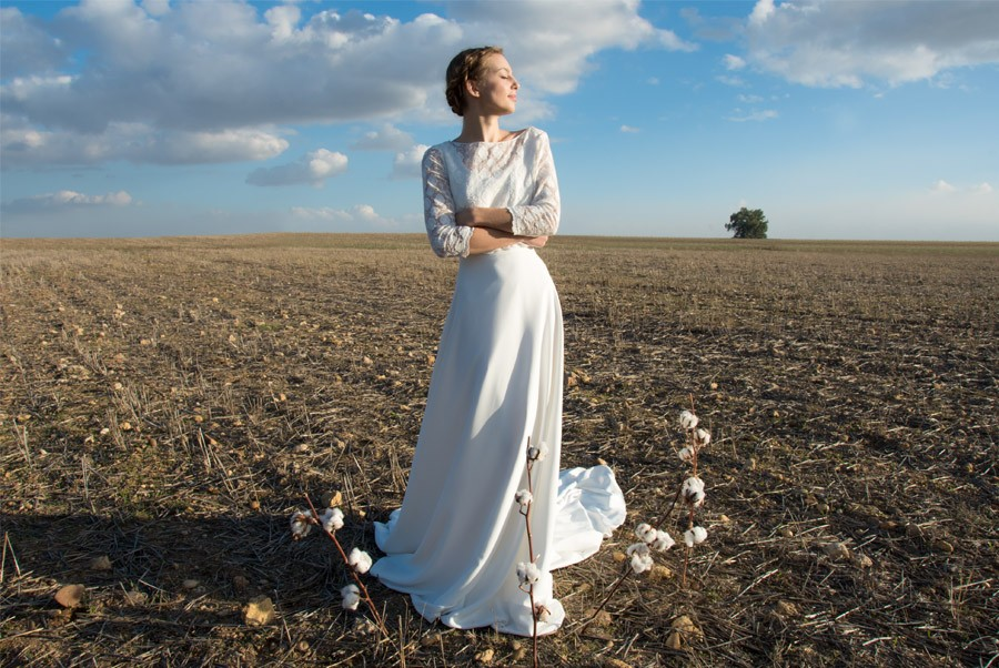 AIRES BUCÓLICOS EN LA NUEVA INSPIRACIÓN DE POL NÚÑEZ pol-nuñez-vestido-de-novia