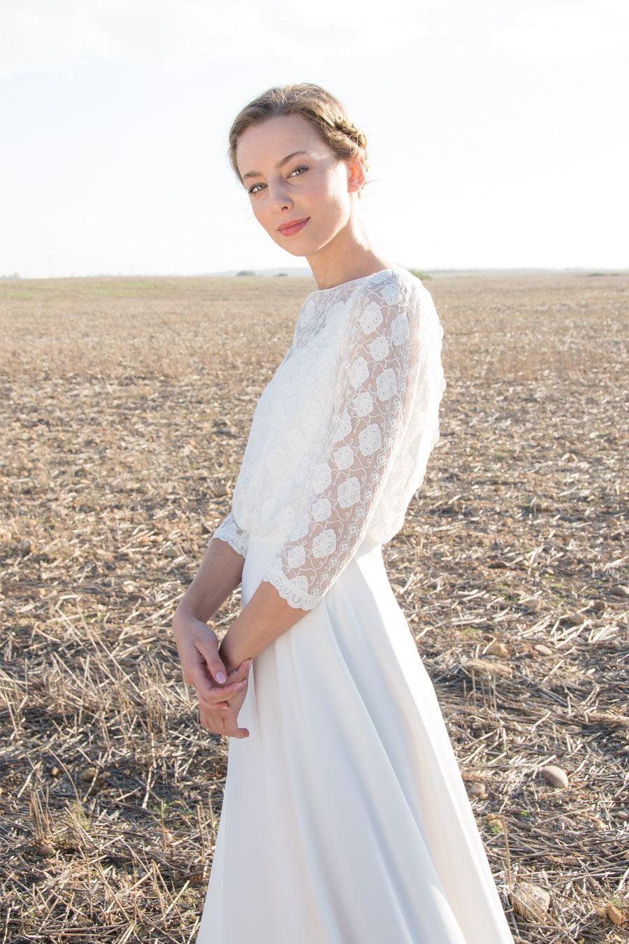 AIRES BUCÓLICOS EN LA NUEVA INSPIRACIÓN DE POL NÚÑEZ vestido-de-novia-pol-nuñez