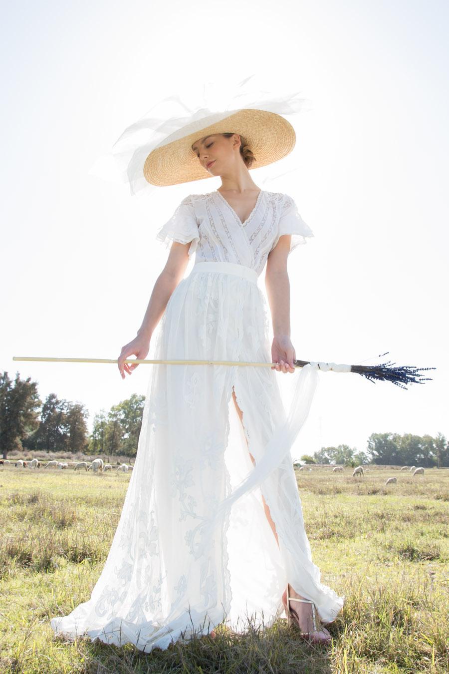 AIRES BUCÓLICOS EN LA NUEVA INSPIRACIÓN DE POL NÚÑEZ vestido-novia-pol-nuñez