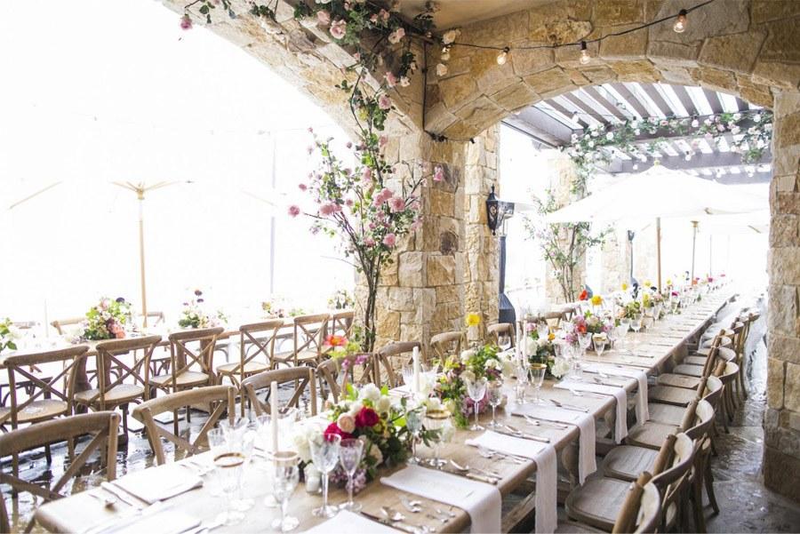 EMMA & CHRIS: ELEGANTE BODA EN MALIBÚ decoracion-mesa-boda