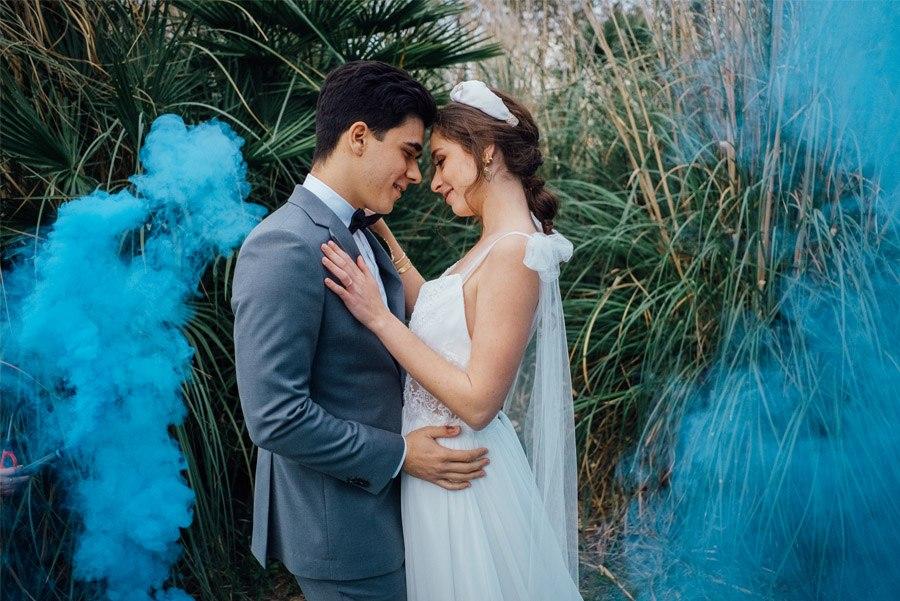 UNA MÁGICA BODA ALADDIN boda-humo-colores
