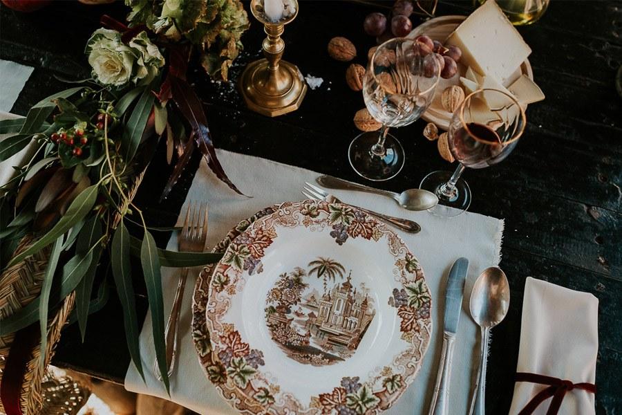 LAS COSAS DEL QUERER vajilla-boda