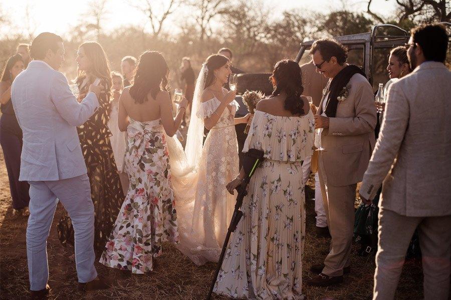 VALENTINA & OMAR: SAFARI WEDDING aperitivo-boda