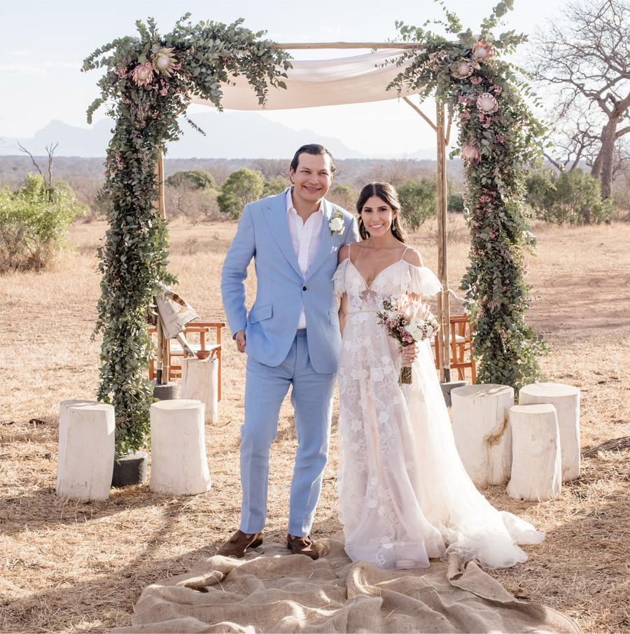 VALENTINA & OMAR: SAFARI WEDDING novios