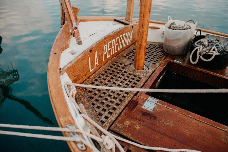 JUDIT Y ANGELO, VIAJE DE SENTIMIENTOS barca-boda