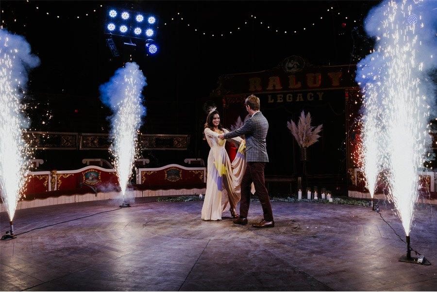 UNA MÁGICA BODA DE CIRCO efectos-especiales-boda