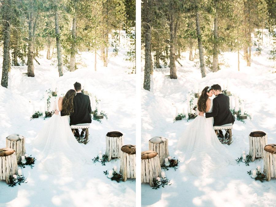 UNA ROMÁNTICA BODA DE INVIERNO boda-invierno-ceremonia