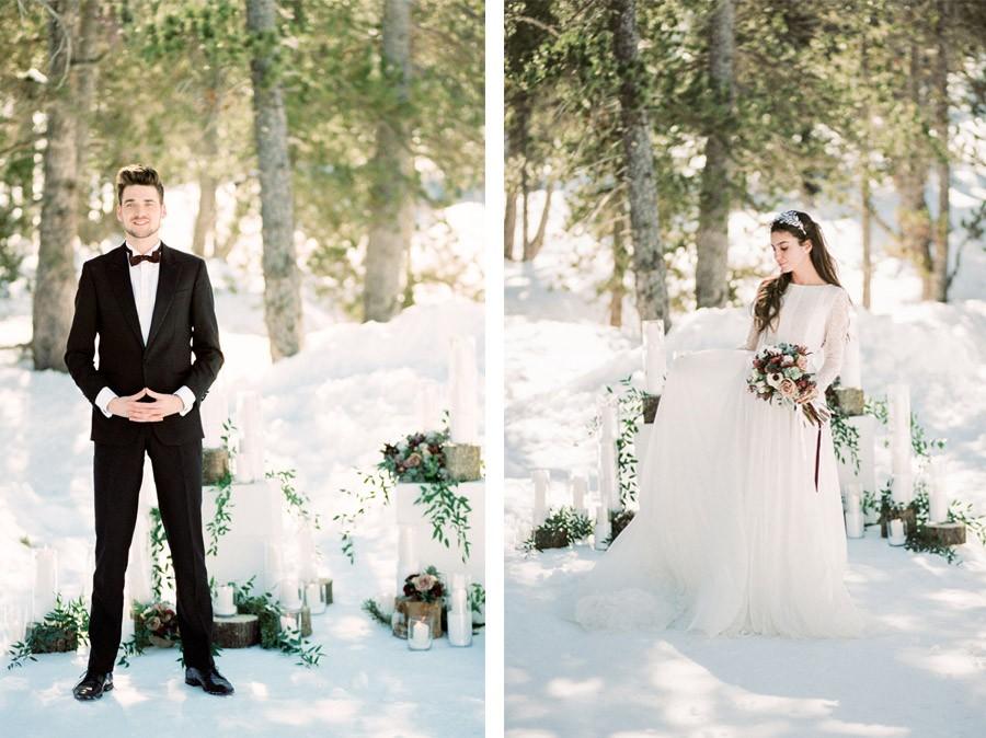 UNA ROMÁNTICA BODA DE INVIERNO ceremonia-boda-invierno
