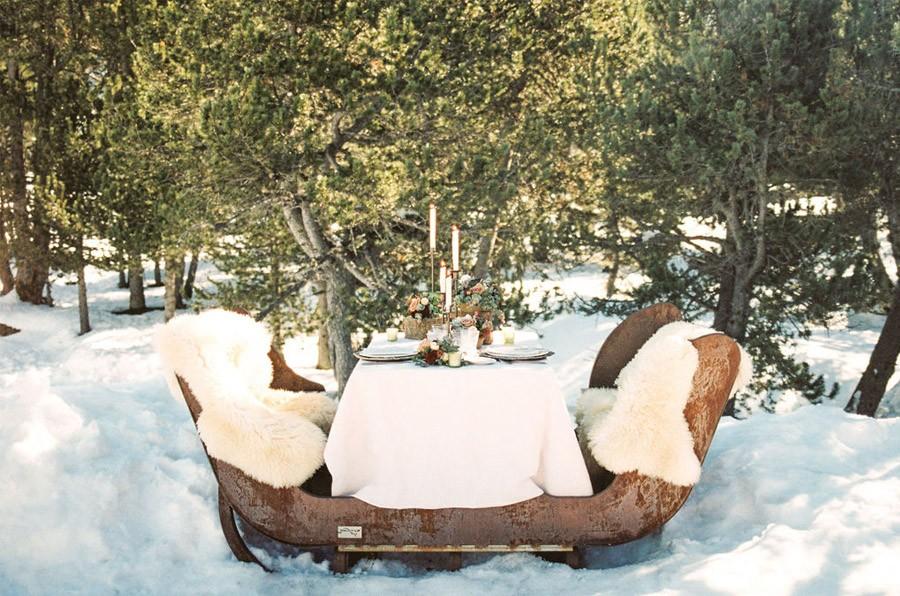UNA ROMÁNTICA BODA DE INVIERNO decoracion-mesa-invierno