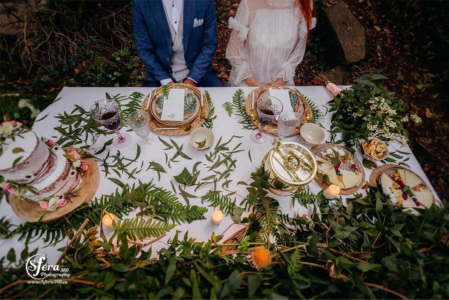 AMOR A ORILLAS DEL TOXA mesa-boda