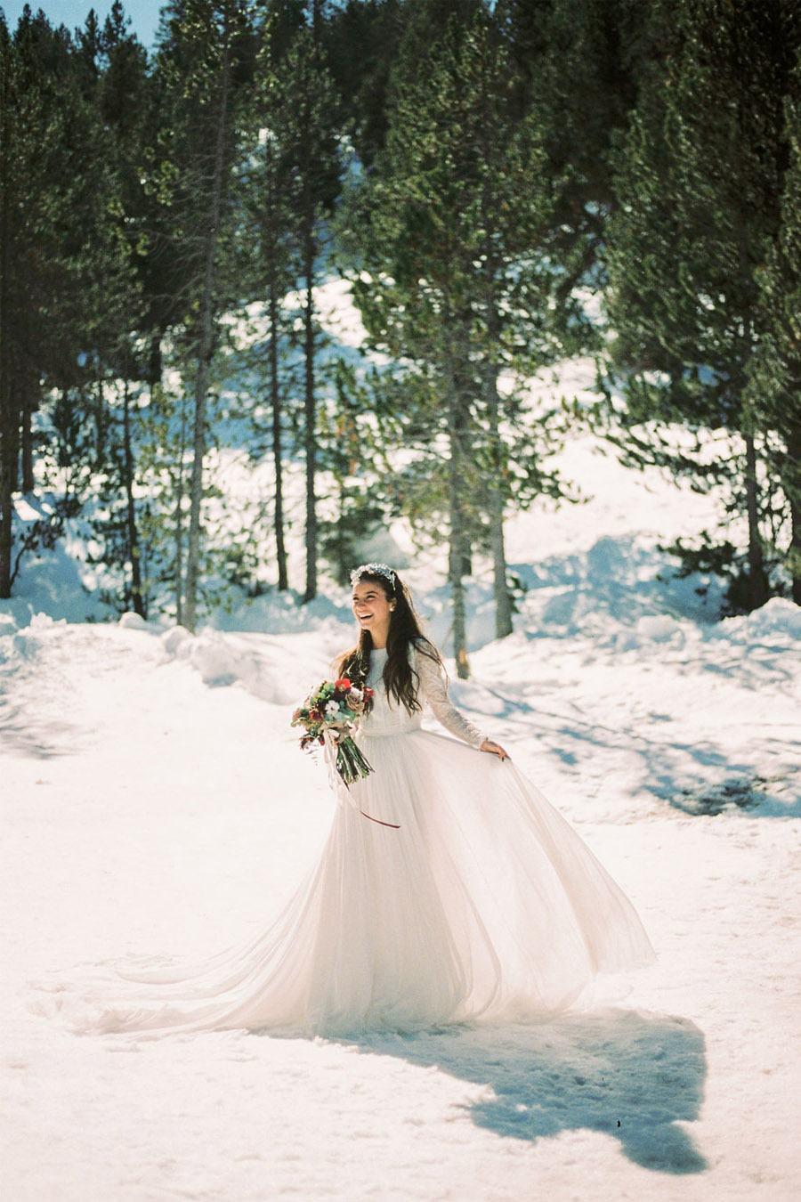 UNA ROMÁNTICA BODA DE INVIERNO novia-grandvalira