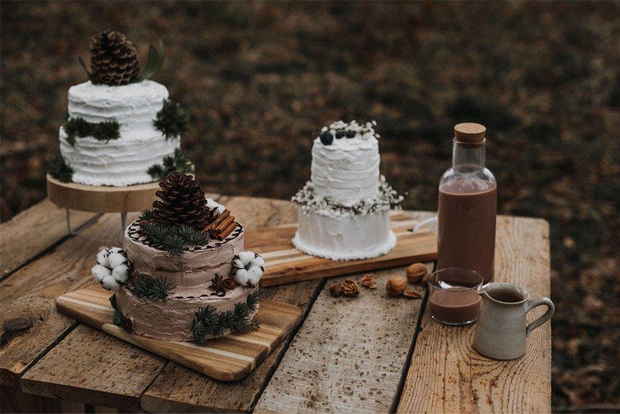 BODA ECO-FRIENDLY EN LAS MONTAÑAS DE CHARTREUSE pastel-boda-eco