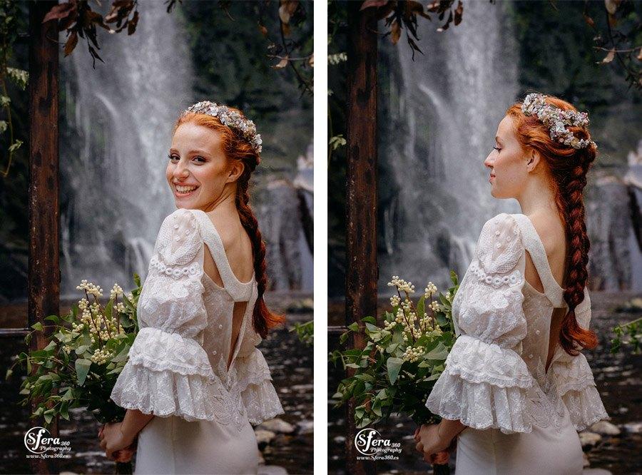 AMOR A ORILLAS DEL TOXA tocado-novia