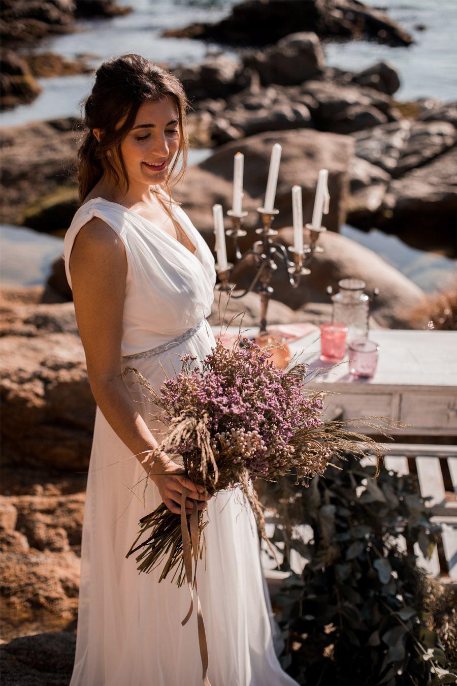 UNA NOVIA DE INSPIRACIÓN GRIEGA ramo-de-novia